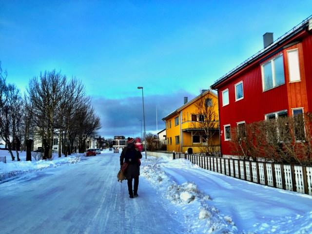 Walking to Bodö City Center