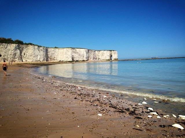 Kingsgate Bay com a maré baixa