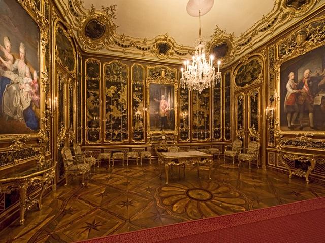 Quarto Viex-Laque usado pelo Imperador Franz Stephan. Foto: http://www.schoenbrunn.at
