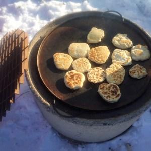 Grillat bröd - Platta Pinnbröd