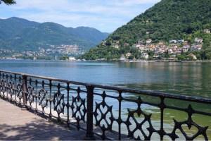 Como Lake i norra Italien