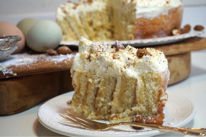 Semmeltårta delux - rulltårtstårta