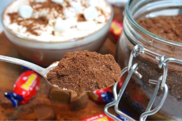 Dumledryck - hemmagjort chokladpulver med dumle