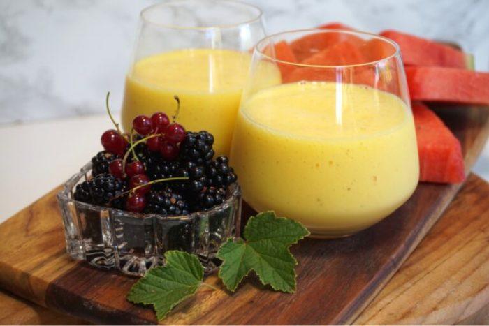 Sweet mango smoothie