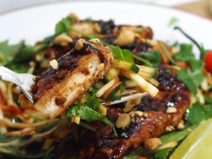 Kyckling satay med lime och koriander