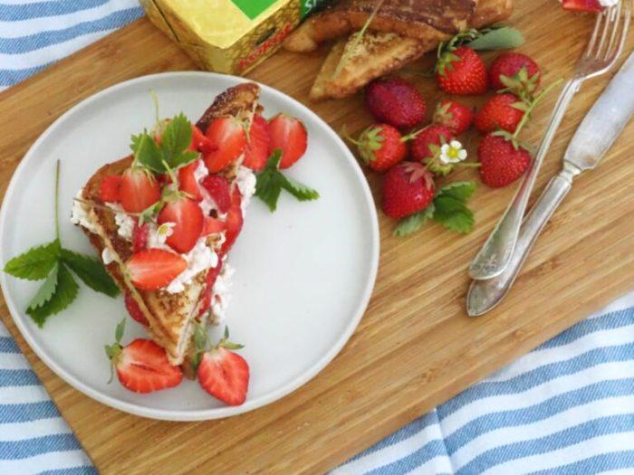 Fattiga riddare med jordgubbar