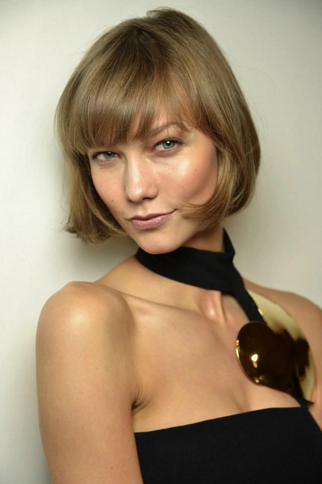 model karlie kloss cried over bob haircut/hairstyle