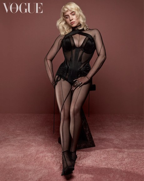 The concept for the shoot in which the pop superstar embraces a classic oldtimey pinup look was Billies idea. Here she...