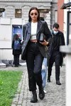 Irina Shayk with your Chunky Boots from Both Paris