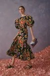 Dress with flowers from Carolina Herrera