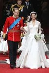 kate middleton wears white wedding dress