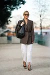 straight jeans white street style