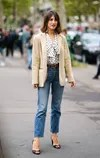 straight jeans street style Paris