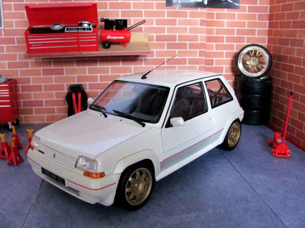diecast model cars renault 5 1 18 norev gt turbo phase 1 white jantes clio williams alldiecast us