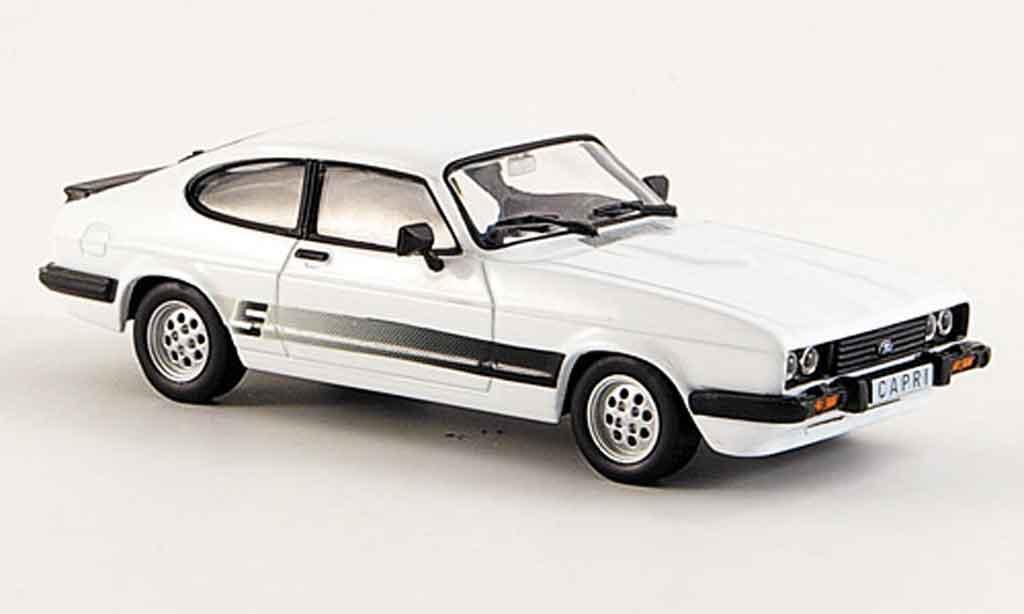Ford Capri III White 1981 WhiteBox Diecast Model Car 143