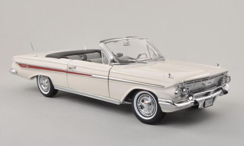 Chevrolet Impala Convertible White 1961 MCW Diecast Model