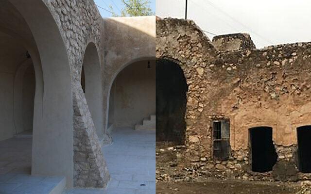 Tombeau avant et après restauration