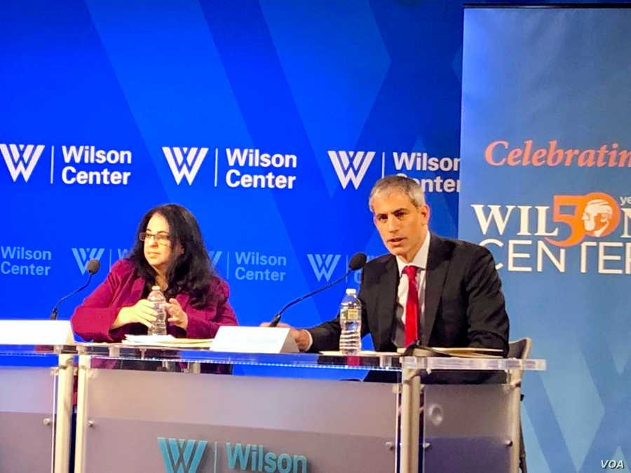 Miguel Bronfman, lead attorney for the AMIA Jewish community center in Buenos Aires, participates in a Wilson Center panel discu