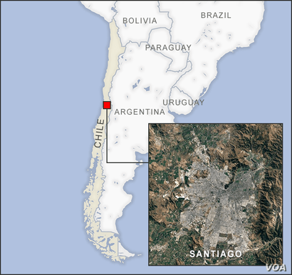 Map of Santiago Chile