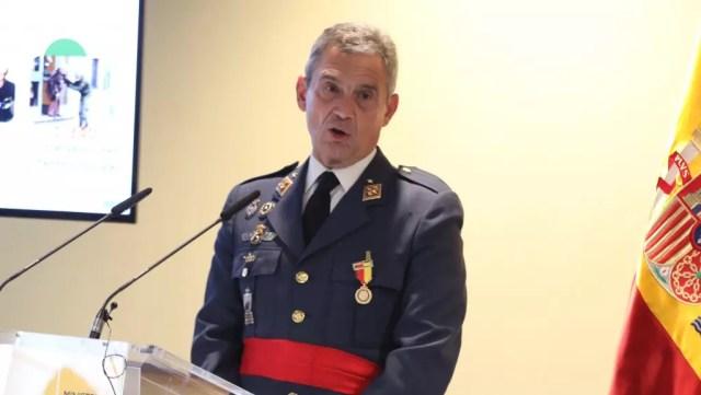El antiguo Jemad, Miguel Ángel Villarroya, en un acto en Defensa.