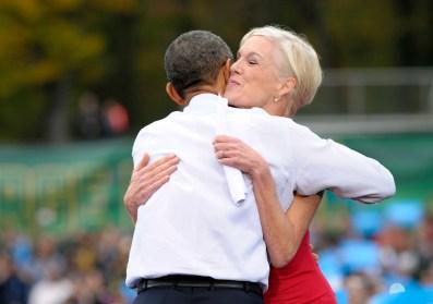 Image result for obama hugs cecile richards'