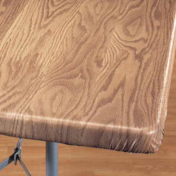 Wood Grain Elasticized Table Cover Wood Table Cover Walter Drake
