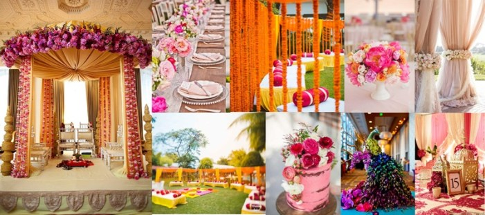 Image result for floral wedding theme india
