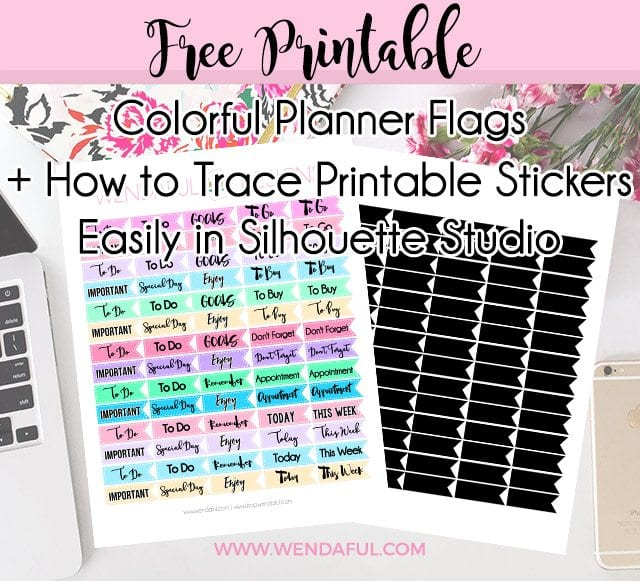 Free Colorful Printable Planner Flag Stickers How To Trace