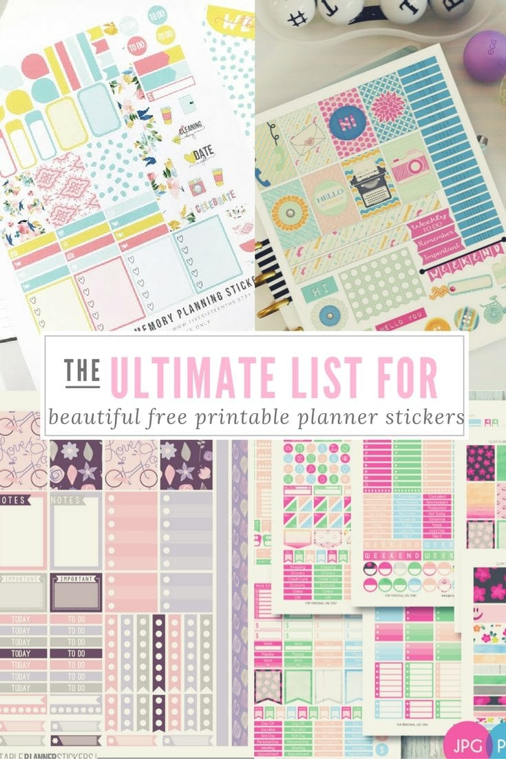 The Ultimate List For Beautiful Free Printable Planner Stickers