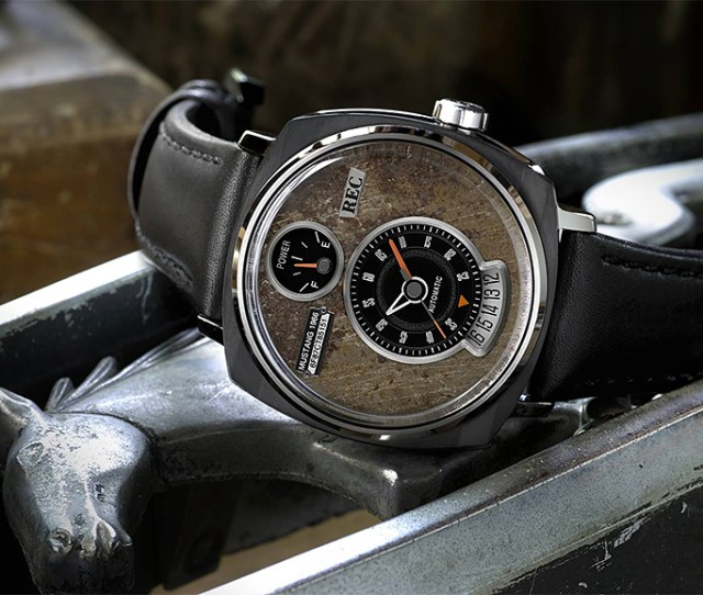 Rec Watches P 51 Collection Uses Salvaged Ford Mustang Parts