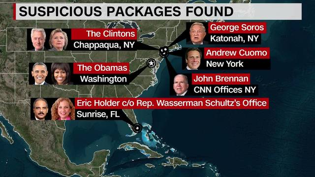 Image result for bombs sent to cnn