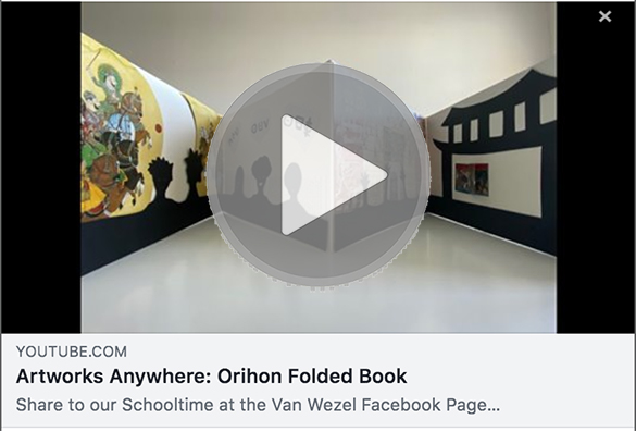 Artworks Anywhere: Orihon Folded Book