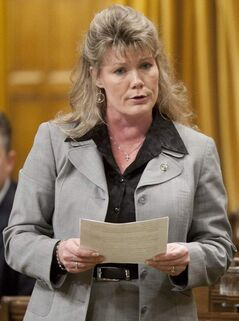 MP Shelly Glover speaks during question period in the House of Commons.