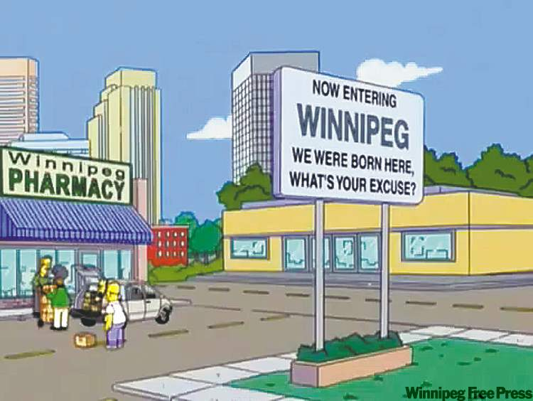 Image result for simpsons cartoon sign winnipeg