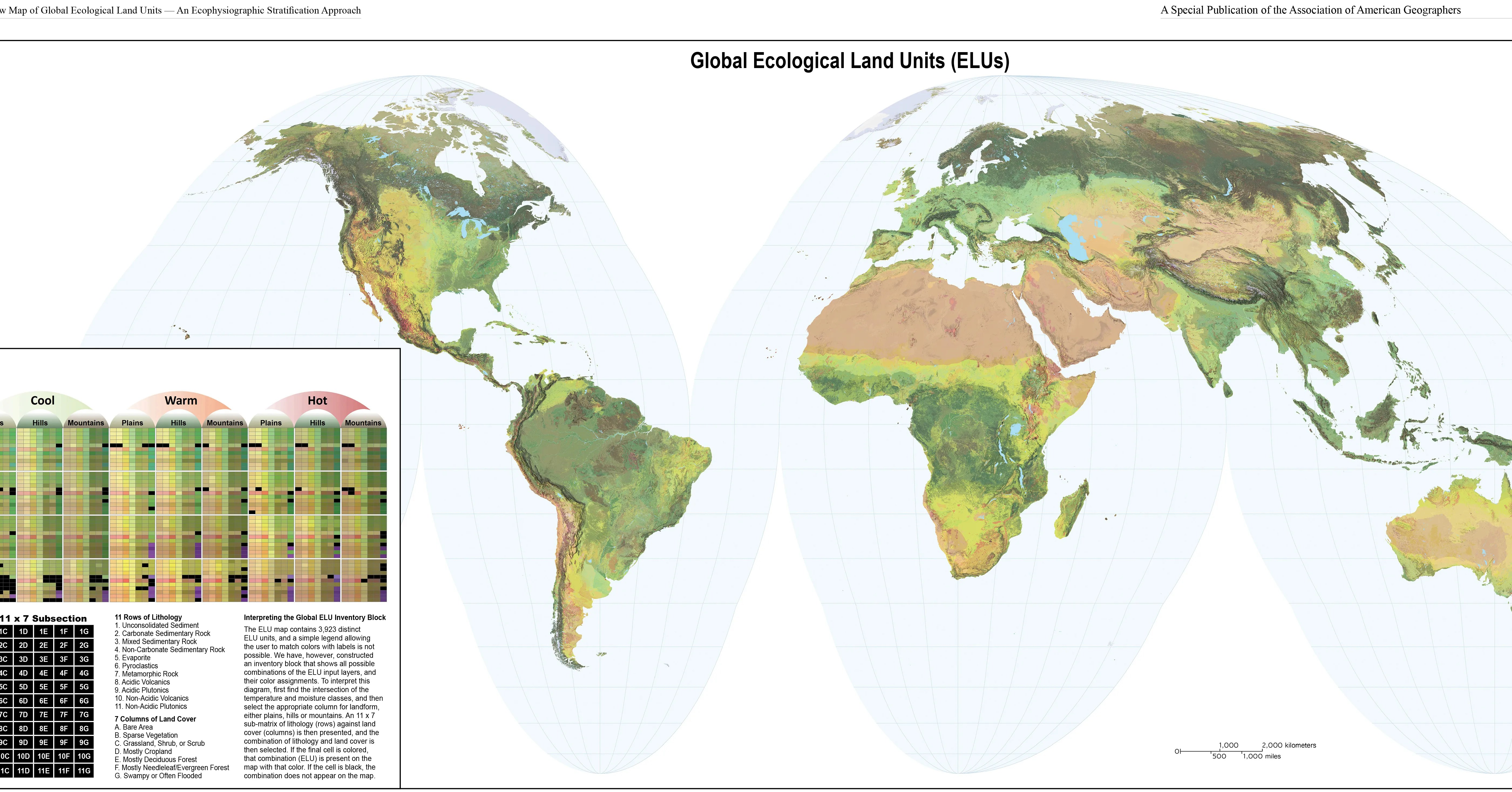 New Map Shows The World S Ecosystems In Unprecedented