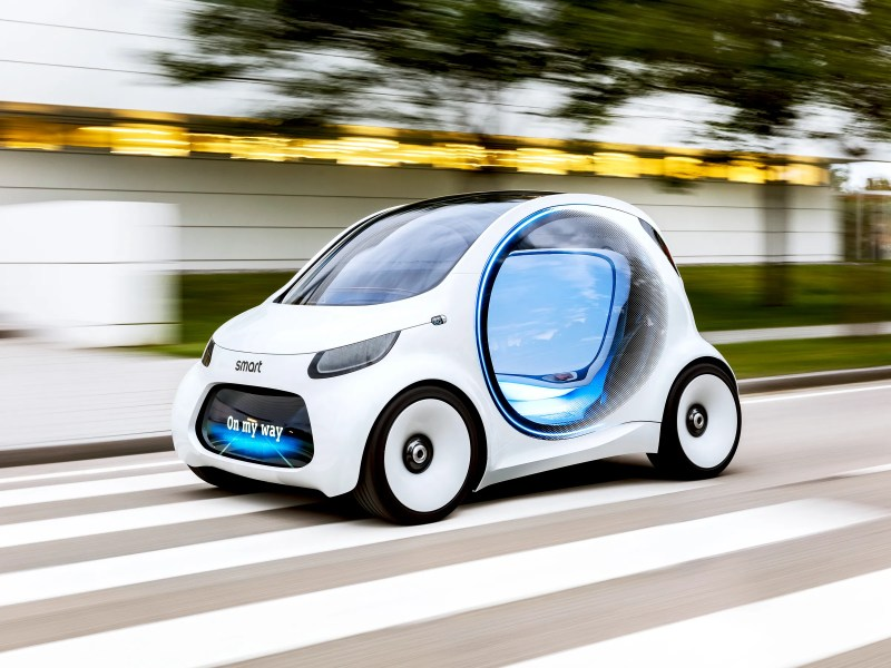 At the Frankfurt Auto Show  Mini  VW  and Smart Prove the Future Is     The Future of Driving Looks Awfully Tiny