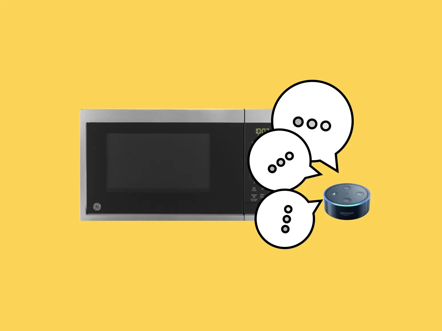 smart countertop microwave with scan to cook technology