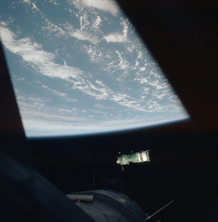 soyuz and earth from apollo