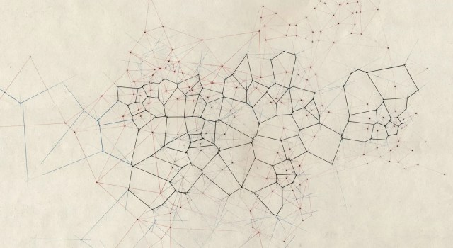 A Voronoi diagram