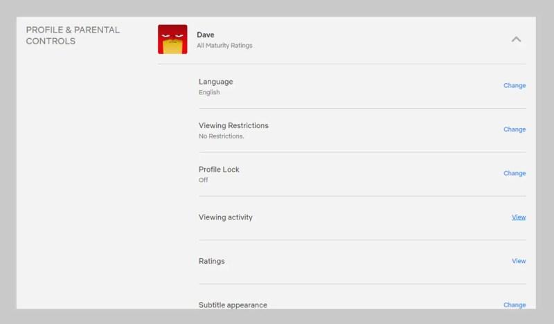 Su Netflix ogni utente può impostare le proprie preferenze di visualizzazione. p