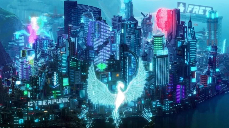 cyberpunk city in minecraft
