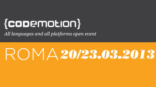 Codemotion 2013 Roma al via!