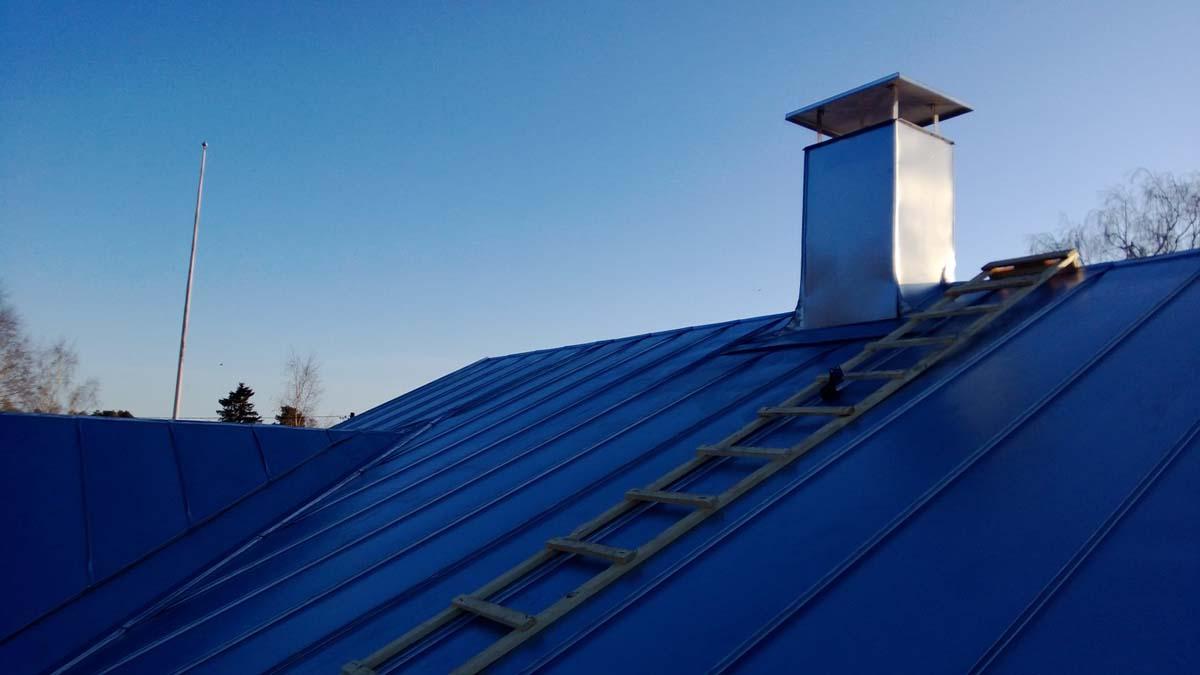 Taket med skorsten