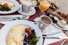 Stadig frukost första dagen.