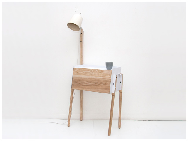 Easy Bedside Table With Built-in Sad Lamp / DOKTER AND MISSES
