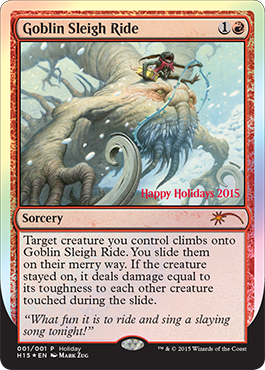 The Wizards Of The Coast Holiday Promo Card MAGIC THE