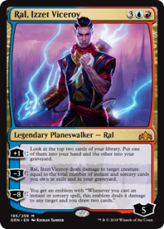 Ral, Izzet Viceroy is a mythic rarity card.