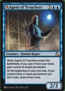 MTG Arena rebalanced card of Agent of Treachery