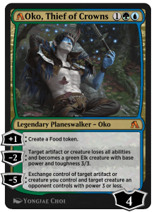 MTG Arena rebalanced card of Oko, Thief of Crowns