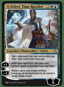 MTG Arena rebalanced card of Teferi, Time Raveler